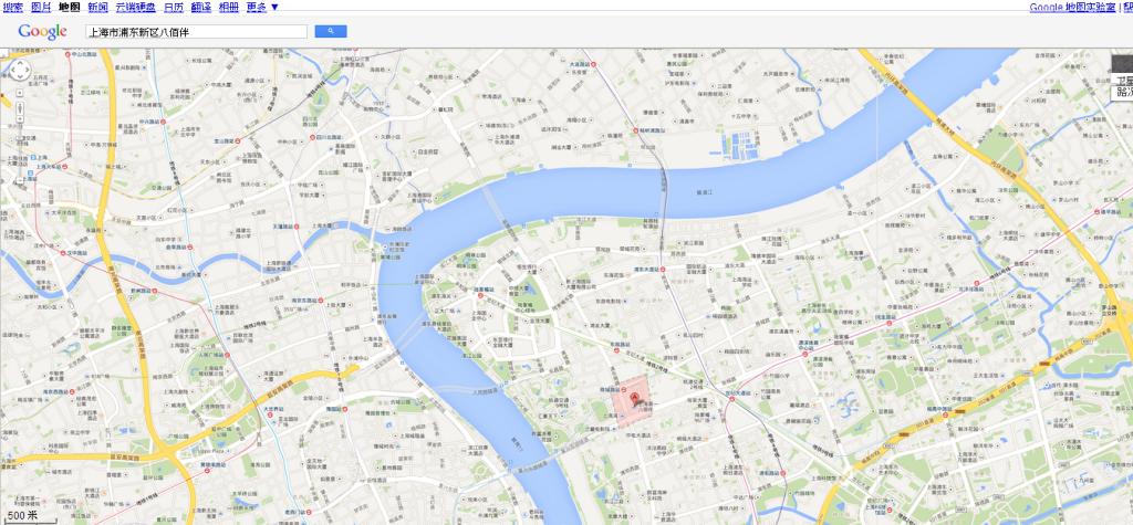 上海 Google 地图500m