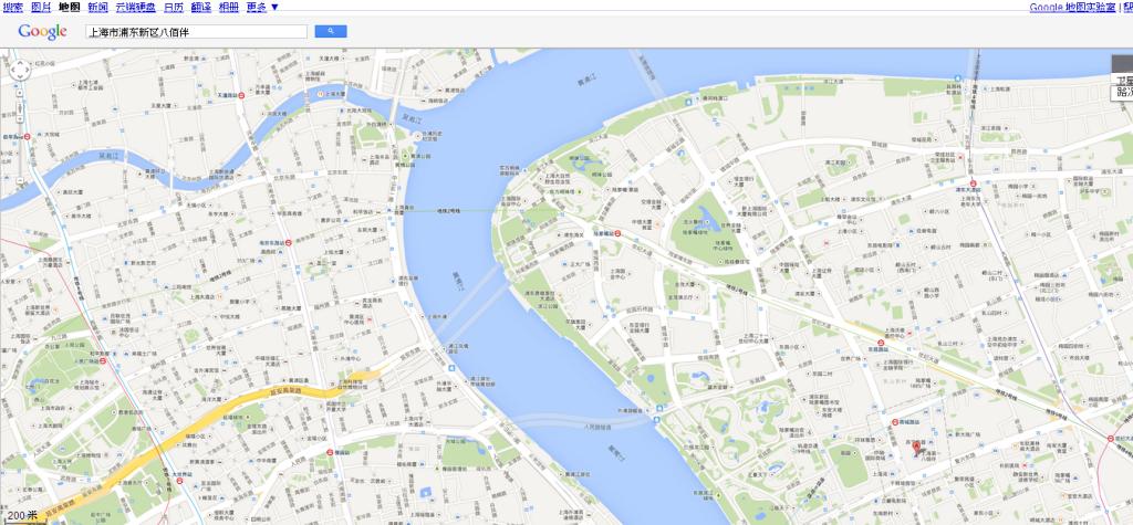 上海Google 地图200m