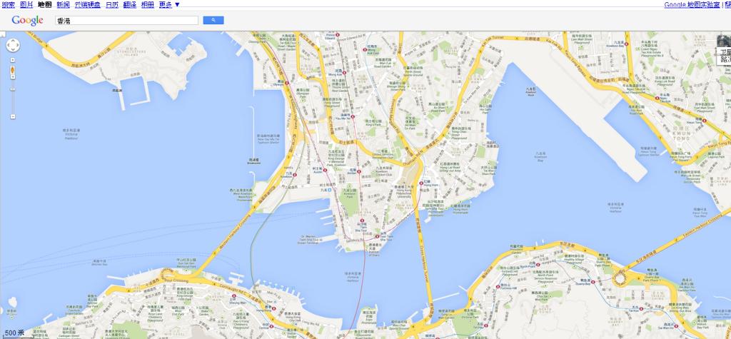 香港   Google 地图500m