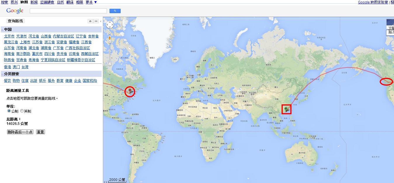 谷歌亚洲地图中文版