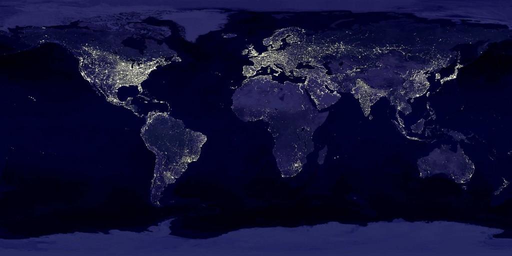 The-globe-at-night